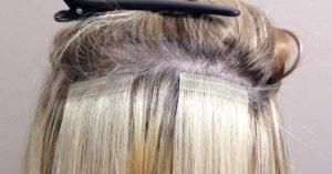 Extensiones de cabello adhesivas